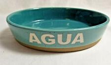 Dog Cat Pet Feeding Dish Bowl AGUA Boots & Barkley Stoneware16oz Aqua Blue