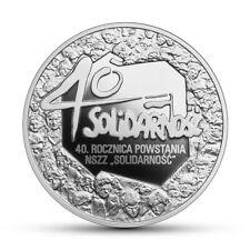 40 lecie solidarnosci-10 zlotych -2020r