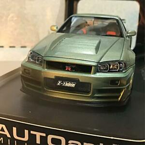 Auto Art 1/18 Skyline R 34 GT-R Millennium Jade Nissan Limited Edition of 2000