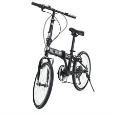 Panana 20'' Folding Bike Ride Sport Unisex Bicycle  in Black 6 Gears