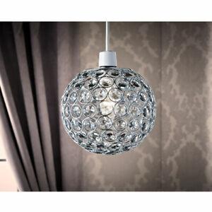 Hanging Crystal Pendant Light Shade Elegant Vienna Ornate Jewel - Clear / Smoke