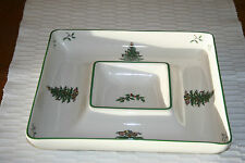 Schale, quadratisch Spode Christmas Tree,Chip and Dip, all in one