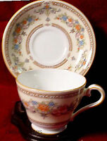 AYNSLEY china DEVONSHIRE pattern CUP & SAUCER Set