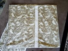 Niche by Eastern Accents King Duvet Cover & 2 Shams, Ivory and Tan Floral: NWOT