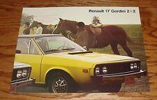 Original 1976 Renault 15 and 17 Sales Brochure 76 15TL 17TL Gordini
