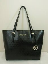 $248 Michael Kors Jet Set Travel Carryall Tote 38T8XTVT2A Leather Handbag Purse