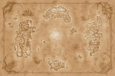 LD01 World of Warcraft MAP Chronicles 36x24 inches Azeroth Game Map Poster