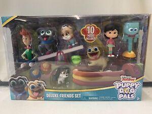 Disney Junior Puppy Dog Pals Deluxe Friends Set 10 Pieces Figurine Toys