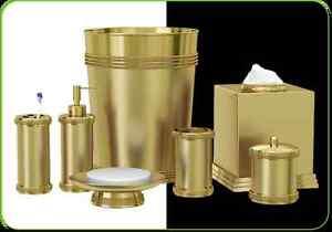 NuSteel Ferruccio Gold Collection 3-Piece Bathroom Accessories Set