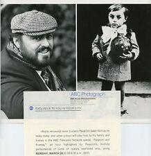 LUCIANO PAVAROTTI AND AS BOY PAVAROTTI AND FRIENDS ORIGINAL 1982 ABC TV PHOTO