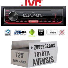 Autoradio JVC für Toyota Avensis T25 MP3 USB Android iPhone Einbauset