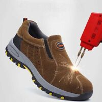 AtreGo Men Casual Safety Steel Toe Slip On Breathable Work Hiking Climbing