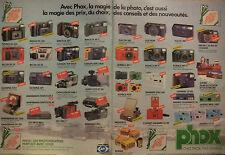 PUBLICITÉ 1986 CHEZ PHOX PAS D'INTOX PENTAX OLYMPUS SONY MINOLTA - ADVERTISING