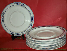 "5 Dansk Bistro MARIBOU White Saucers Plates 7.15"",RETIRED IN 1997-Japan~VERY GD"