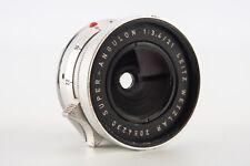 Leica Leitz Wetzlar Super Angulon 21mm f/3.4 Wide Angle Lens w Cap M Mount V04