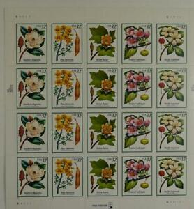 US SCOTT 3193 - 3197a PANE OF 20 FLOWERING TREES 32 CENTS FACE MNH
