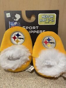Pittsburgh Steelers NFL Baby Infant Yellow Booties, Size Medium 3/6 Months, NWT