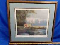 J.C.Michelet Teh Sahrecropper Deer Wood Hunting Signed Numbered Litho Print
