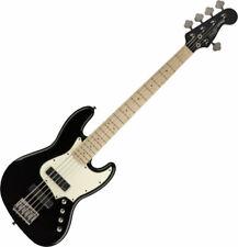 Fender Squier Contemporary Active HH V 5-string Jazz Bass Flat Black Maple Neck