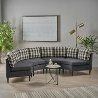 Kennedy Michael Contemporary Fabric Modular 4 Seater Sectional