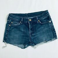 Womens 7 For All Mankind Jeans Cut Off Short Shorts Size 29 Dojo