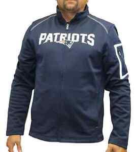 """New England Patriots Majestic NFL """"Teamwork"""" Men's Full Zip Mock Neck Sweatshirt"""