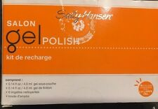 Sally Hansen Salon Gel Polish Basics Refill Kit~Top + Base Coat + 6 Nail Cleanse