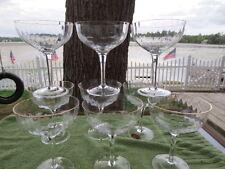 9 Gorham Crystal Laurin pattern Champagne / Sherbert Glasses