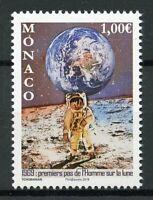 Monaco Space Stamps 2019 MNH Moon Landing Apollo 11 Neil Armstrong 1v Set