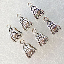 50Pcs Tibetan Silver Connector Spacer Bail Beads 13x7mm ZN-61928 (R)