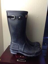 Hunter Rain Boots- Metallic Black 4G/3B Euro Size 34