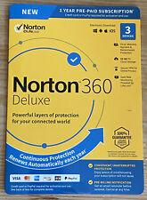 Norton 360 Deluxe 3 Devices 25GB PC Cloud Storage New 21392065 037648688000