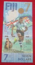 FIJI $ 7 DOLLARS COMMEMORATIVE OSEA KOLINISAU RUGBY 2016/2017 P NEW NOTE UNC