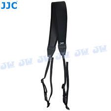 JJC Camera Shoulder Neck Strap Belt For SLR DSLR Nikon Canon Fujifilm Sony Black