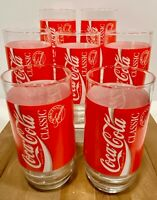 Vintage Indiana Glass COCA-COLA 16 oz. Cooler Glasses by Indiana Glass -Set of 7