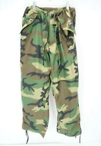Vintage Military Cold Weather Cargo Trousers Pants Camouflage Men's Large