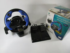 Logitech Driving Force Feedback Steering Wheel w/ Pedals Box PlayStation 2 PS2
