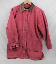 Vtg WOOLRICH SouthWestern Indian Blanket Leather Trim Barn Coat Jacket Women's S