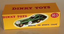 Dinky 163 Bristol 450 Sports Coupe Empty Repro Box
