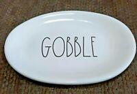 "RAE DUNN ARTISAN BY MAGENTA LARGE LETTER GOBBLE  THANKSGIVING  8"" OVAL PLATE"