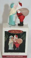 Hallmark Keepsake Christmas Eve Kiss Mr and Mrs Claus Series Classic Ornament