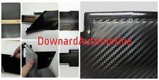 "Carbon Fiber Vinyl (2)- 11"" x 5"" U-Cut Decal-Overlay for Chevy Bowtie Emblems"
