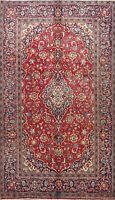 Vintage RED Traditional Hand-knotted Floral Area Rug Wool Oriental 6x9 Carpet