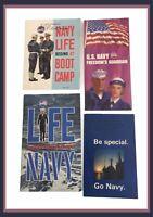 Vintage Navy Recruitment Brochures - Circa 1960's - Lot Of 4 Brochures    (N504)