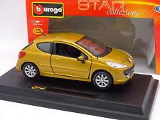 Burago 1/24 - Peugeot 207 Amarillo