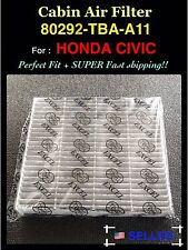 CARBONIZED CABIN AIR FILTER FOR HONDA CIVIC HRV 16-17 80292-tba-a11 Fast Ship!
