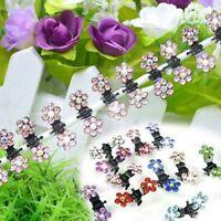 Lady Girl Crystal Clamp Mini Flower Hair Pin 12 Pcs Hair Clip