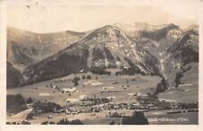 Switzerland Chateau d'Oex Panorama Mountains General view Village