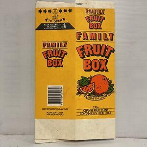 FAMILY FRUIT BOX Vintage 1980's Unfolded 2 Litre Drink Carton Coca Cola RARE