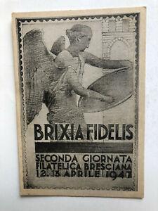 Cartolina Seconda giornata filatelica Brixia Fidelix Brescia 1947 c2